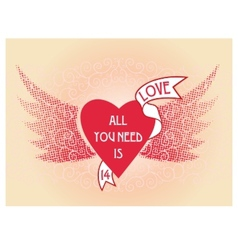 Just a beautiful valentine card vector