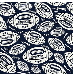 Seamless pattern rugby vector