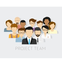 Project team avatars vector
