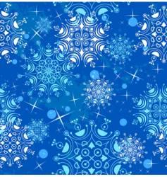 seamless beautiful snowflakes vector image