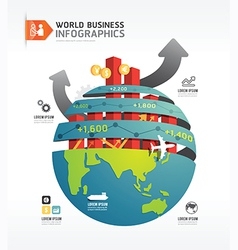 Business world infographic concept design template vector