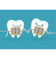 Braces teeth vector image