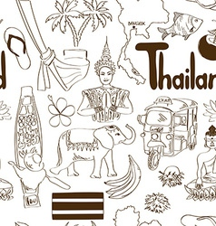 Sketch thailand seamless pattern vector