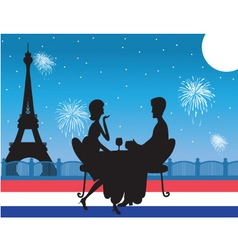 Romantic paris dinner vector