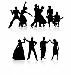 Dancing couples vector