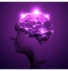 Concept of Active Human Brain vector image