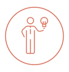 Business idea line icon vector image