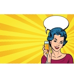 Toast girl party yellow retro background vector