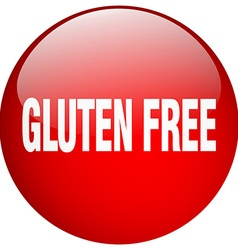 Gluten free red round gel isolated push button vector