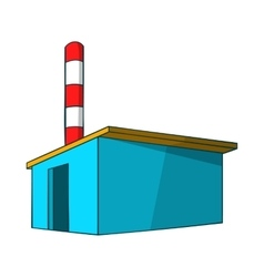 Chemical warehouse icon cartoon style vector