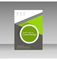 Abstract brochure design template flyer design vector