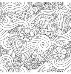 Abstract hasian stylized ornament seamless pattern vector image vector image