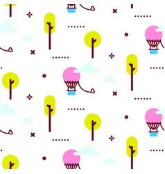 amusement park pattern vector image vector image