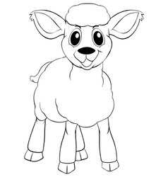 animal outline for little lamb vector image