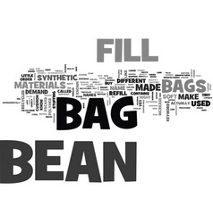 Bean bag fill text word cloud concept vector