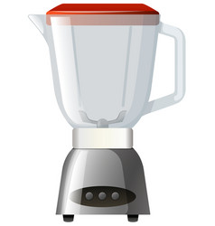 Blender with red lid vector