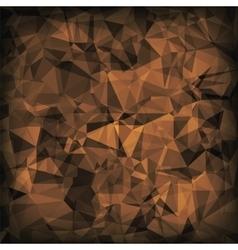 Brown polygonal background vector