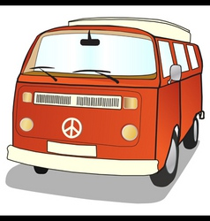 campervan vector image