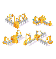 conveyor system isometric design concept vector image
