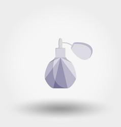 Eau de toilette perfume icon flat vector