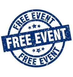 Free event blue round grunge stamp vector