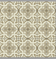 Gorgeous seamless pattern white sepia moroccan vector