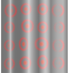 Gray silver background with blurred red circles vector