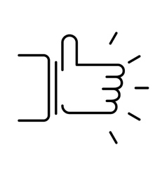 Like hand finger up sign thumb icon symbol success vector