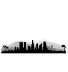 los angeles usa skyline city silhouette vector image vector image