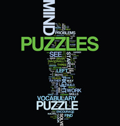 Mind puzzles that bust the brain text background vector