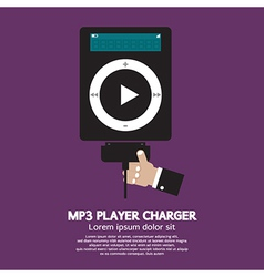 Mp3 player charger vector