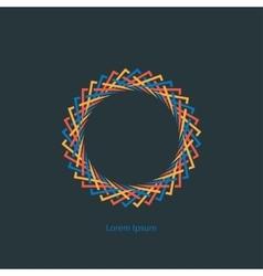 round monogram vector image vector image