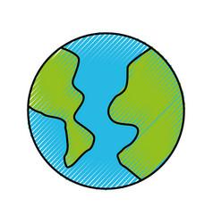 Scribble world cartoon vector