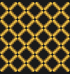 seamless pattern with golden abstract vector image vector image