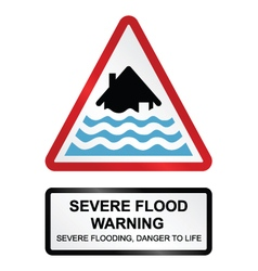 Severe flood warning vector
