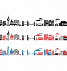 silhouettes of european cities london vector image vector image