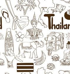 Sketch thailand seamless pattern vector