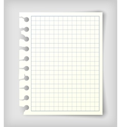 Small note paper sheet vector image