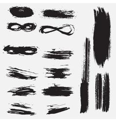 Splash banner Ink stroke background grunge vector image