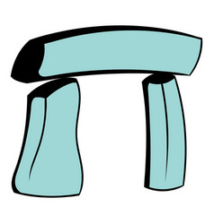 Stonehenge icon cartoon vector