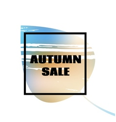 Text autumn sale on leaf background vector