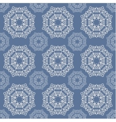 The lace pattern on blue background vector