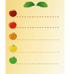 Apples list vector
