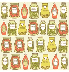 Vintage hand drawn pattern vector image