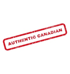 Authentic canadian text rubber stamp vector
