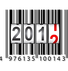 2012 new year counter barcode vector image vector image