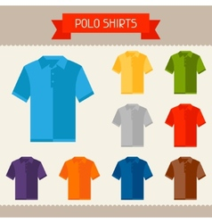 Polo shirts colored templates for your design in vector