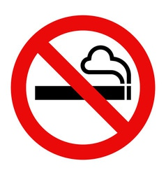 No smoking sign vector