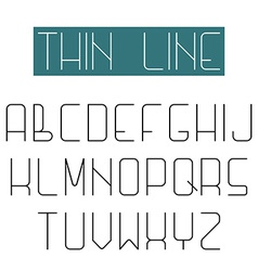 Modern design font alphabet of thin line letter vector