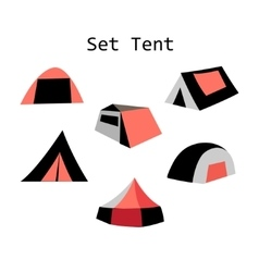 Forms of tourist tents vector